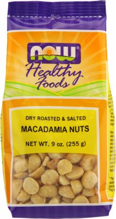 NOW, Macadamia Nuts, 255 грамм