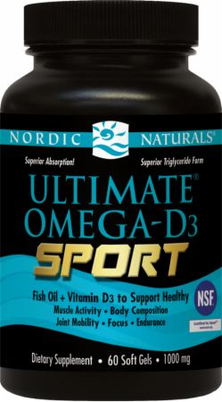 Nordic Naturals, Ultimate Omega-D3 Sport, 60 капсул