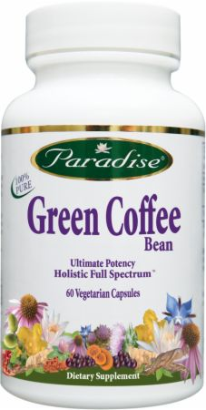 Paradise Herbs, Green Coffee Bean, 60 капсул